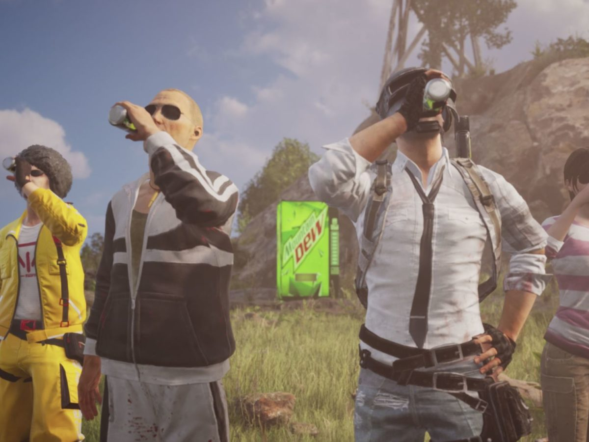 PUBG Mobile Announces Partnership with Mountain Dew to add in-game items