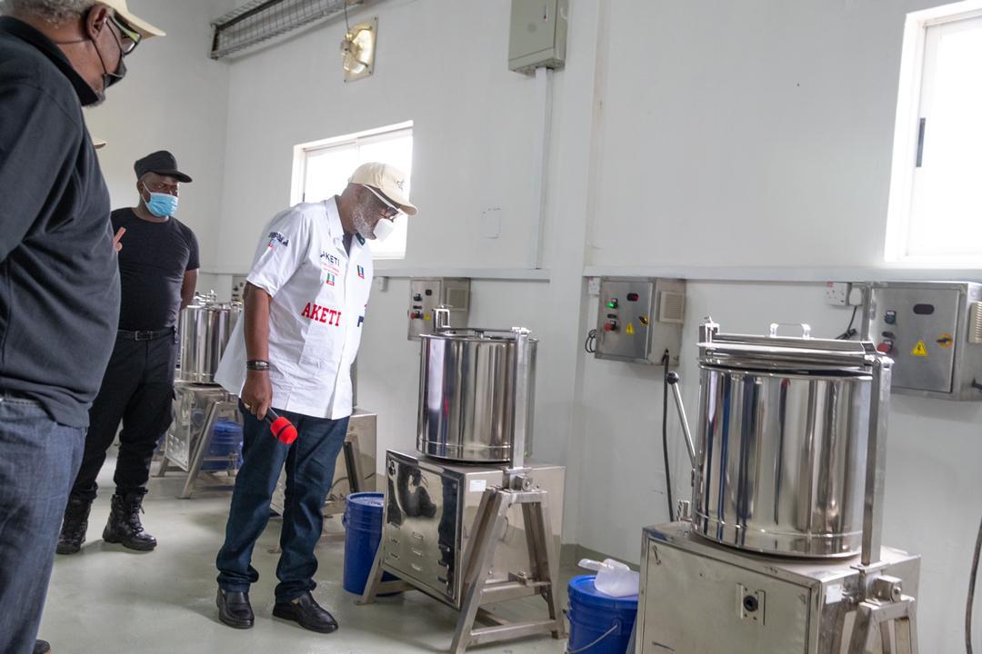 Rotimi Akeredolu commissions Sunshine Chocolate Factory in Idanre (Photos)