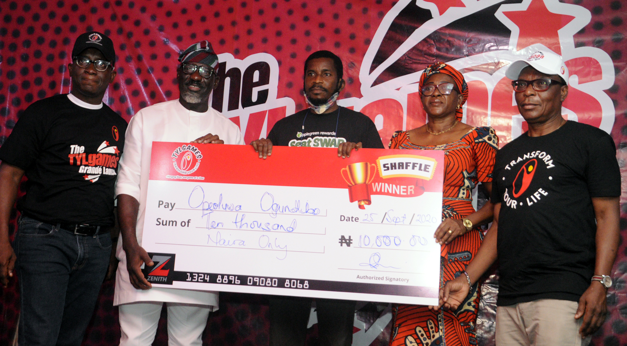 Lagos based business man wins TYLgames N1million grand prize (Photos)