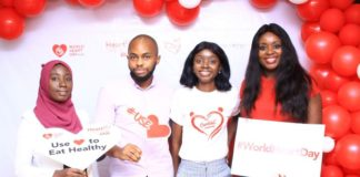 1. Salami Abiola Rukayat; Clinical dietitian & Jide Owolabi; Tech Director Cardiac Community, Ayotunde Omitogun; Executive Director Cardiac Community and Damilola Sobajo; Communications Director Cardiac Com