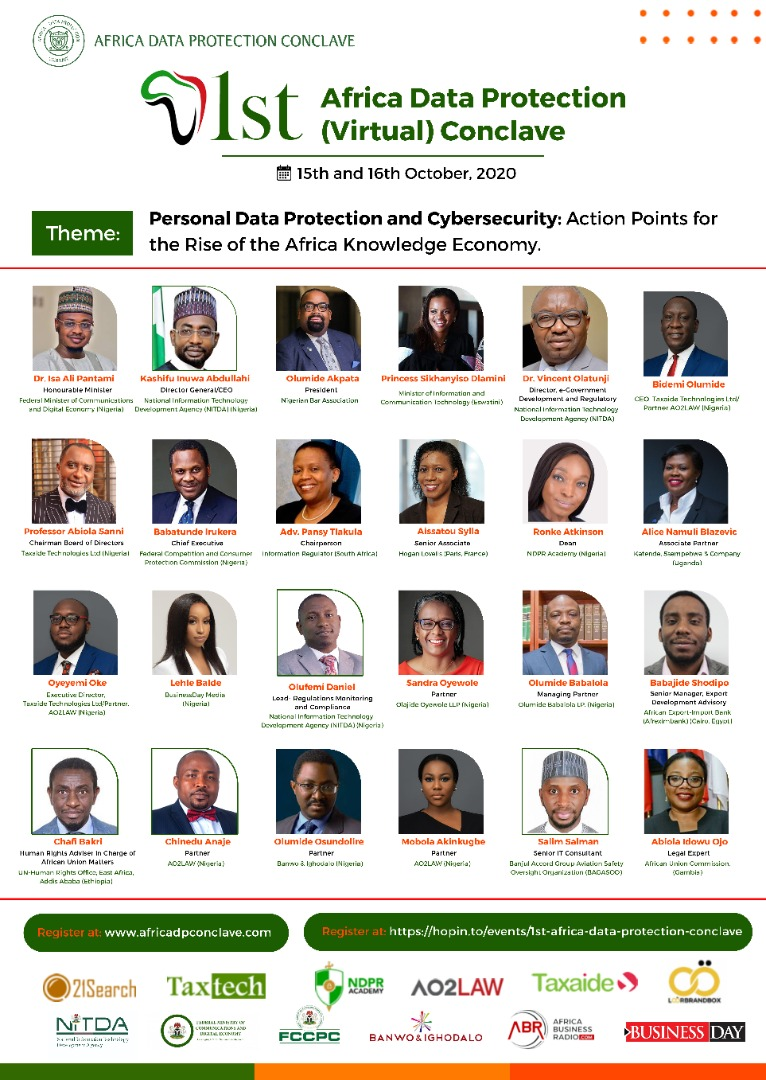 1st Africa Data Protection Conclave set to hold October 15th and 16th