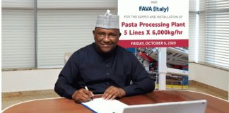 BUA Group, FAVA Partner on Pasta Processing Plant