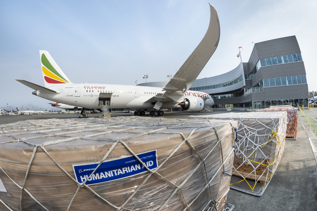 Boeing and Ethiopian Airlines Partner on their 40th Humanitarian Delivery Flight