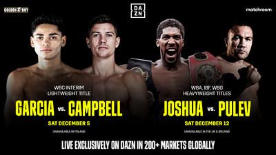 DAZN Debuts Global Platform With Ryan Garcia vs Luke Campbell On Dec 5 and Anthony Joshua vs Kubrat Pulev on Dec 12