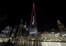 Porsche Taycan electrifies Dubai's Burj Khalifa, the world's tallest building