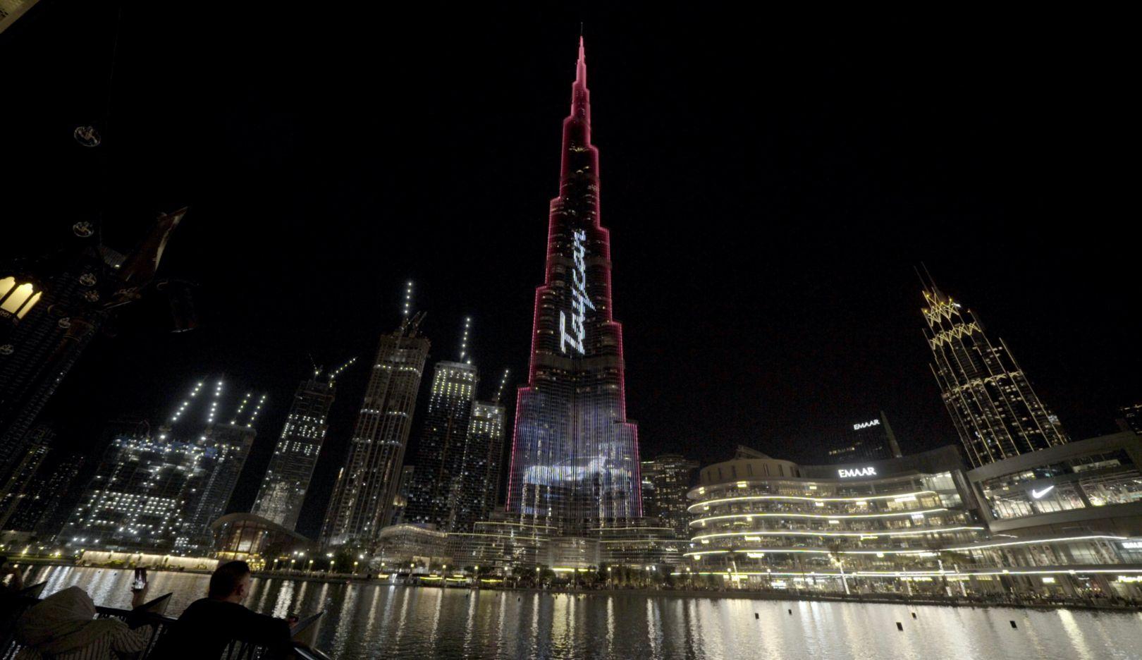 Porsche Taycan electrifies Dubai's Burj Khalifa, the world's tallest building