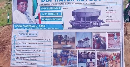 Taraba State Govt. Flags Off Construction of 5 Million Litre Water Reservoir to Boost Water Supply in Jalingo (Photos) Brandspurng
