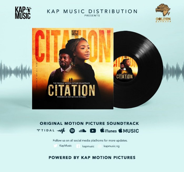 Citation: KAP Music Releases Soundtrack