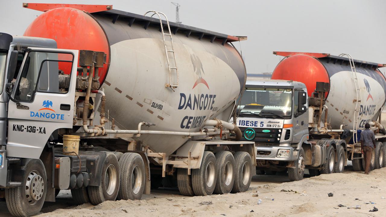 Dangote Cement truck drivers protest alleged mistreatment