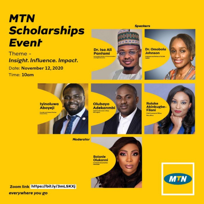 Dr Isa Ali Pantami, Dr Omobola Johnson, Iyinoluwa Aboyeji, others to speak at MTN's Scholarships Event