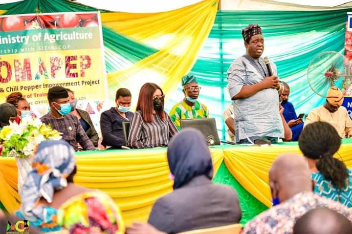 EU GIZ Ogun State Govt Tomato and Chili Pepper Empowerment Project (TOMAPEP) Kicks Off (Photos) Brandspurng4
