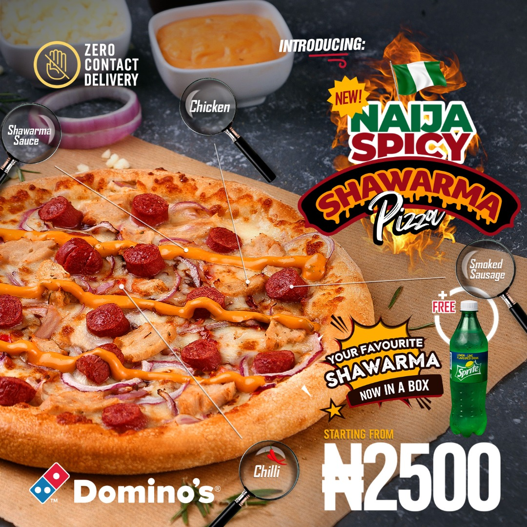 Experience the True Spirit of Naija With the New Spicy Shawarma Pizza & Shawarma Roll from Domino's Pizza!