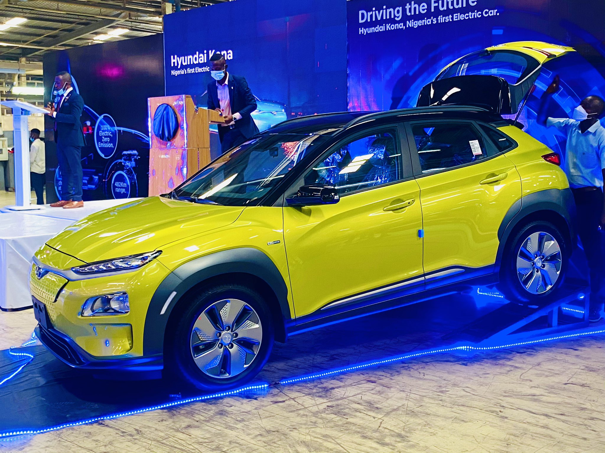 Hyundai Kona: Governor Sanwo-Olu Unveils First Locally-Assembled Electric Car In Nigeria (Photos)