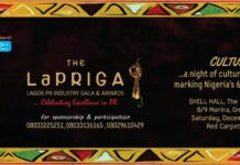 LaPRIGA: Fifth Lagos PR Industry Gala & Awards Holds December 19