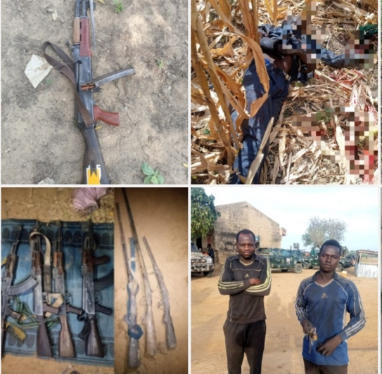 Nigerian Army Neutralizes Several Bandits, Arrests Illegal Miners, Recover Arms And Ammunition In North West Zone