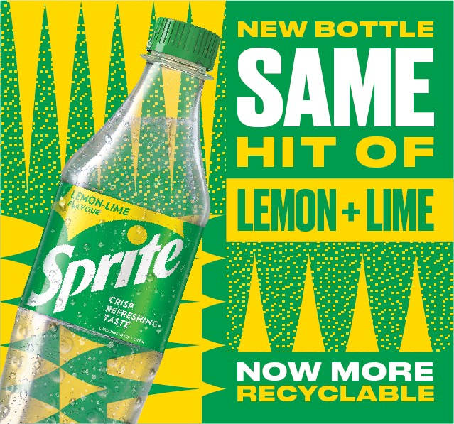 Sprite Introduces New Easy To Recycle Transparent Bottles