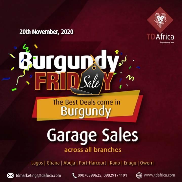 TD Burgundy Brandspurng TD Africa set for nationwide Garage sale on Friday