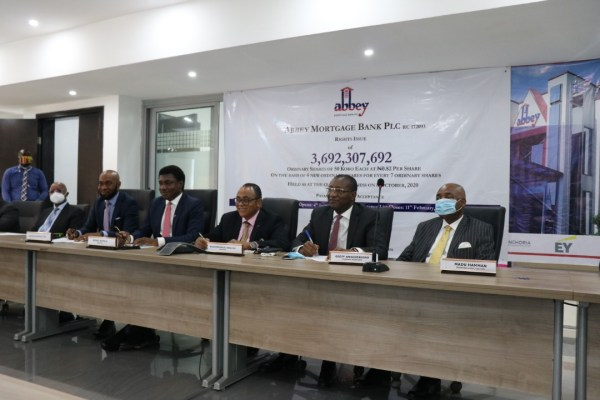 Abbey Mortgage Bank signs ₦3.692bn Rights Issue with Kairos Capital