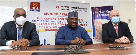 BUA Cement signs contract to build 3 Plants in Adamawa, Edo and Sokoto Brandspurng1