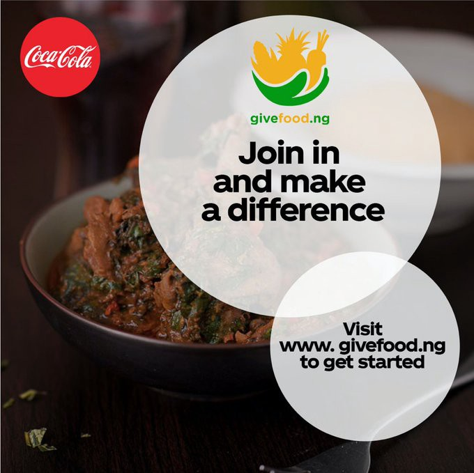 Coca-Cola Partners GiveFood.ng, Pledges N19 Million to Relief Platform Brandspurng