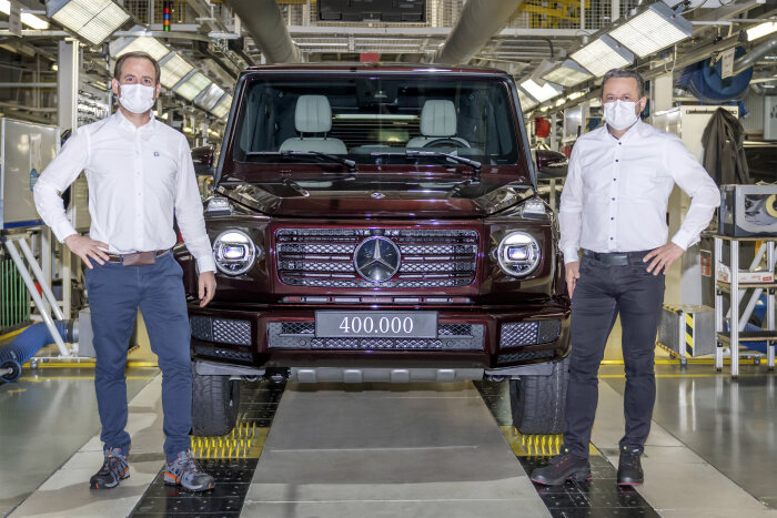 Mercedes-Benz G-Class hits 400,000 units production milestone Brandspurng