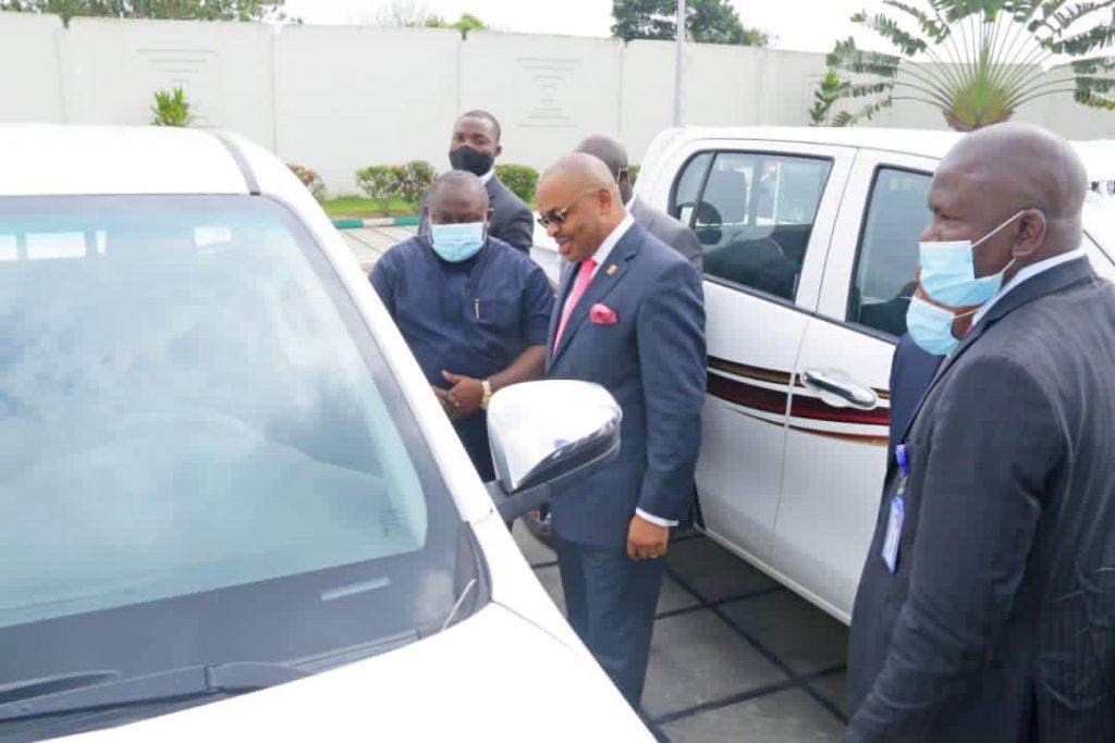 Photos: Akwa Ibom Govt reactivates Joint Task Force, donates 30 new patrol trucks
