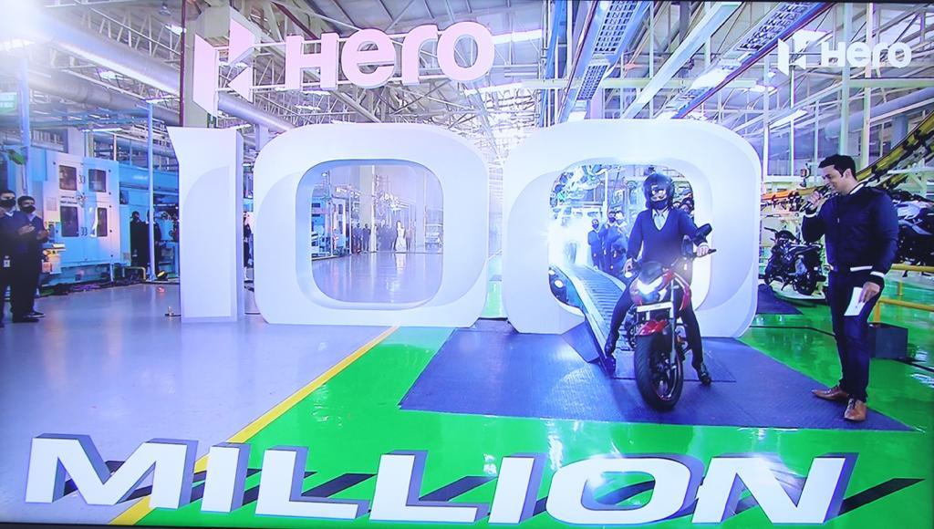 Hero Motocorp Surpasses The Monumental 100 Million Cumulative Production Milestone Brandspurng1