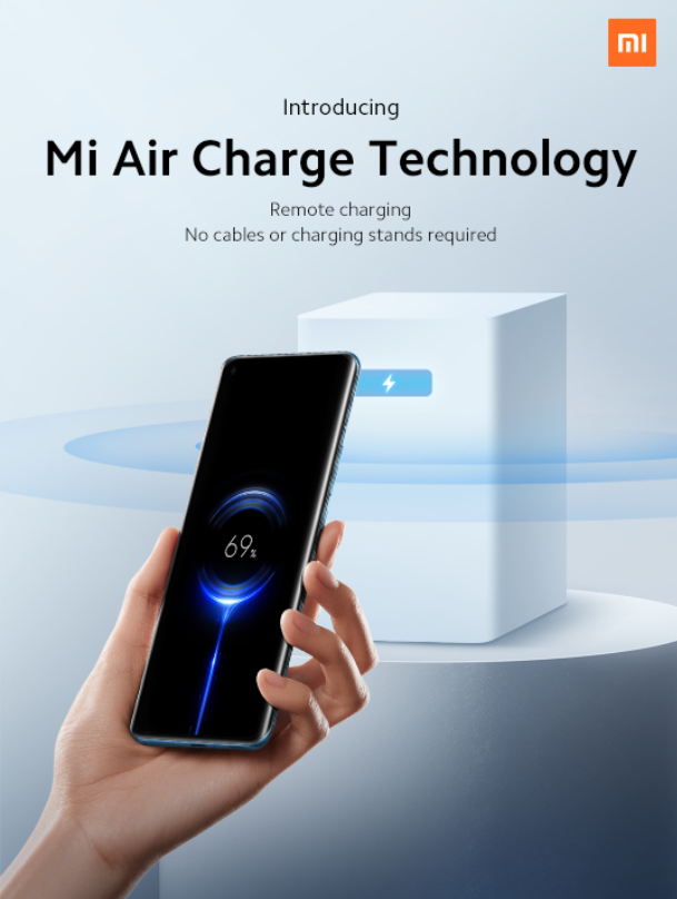 Xiaomi Unveils Mi Air Charge, wireless charging from across the room