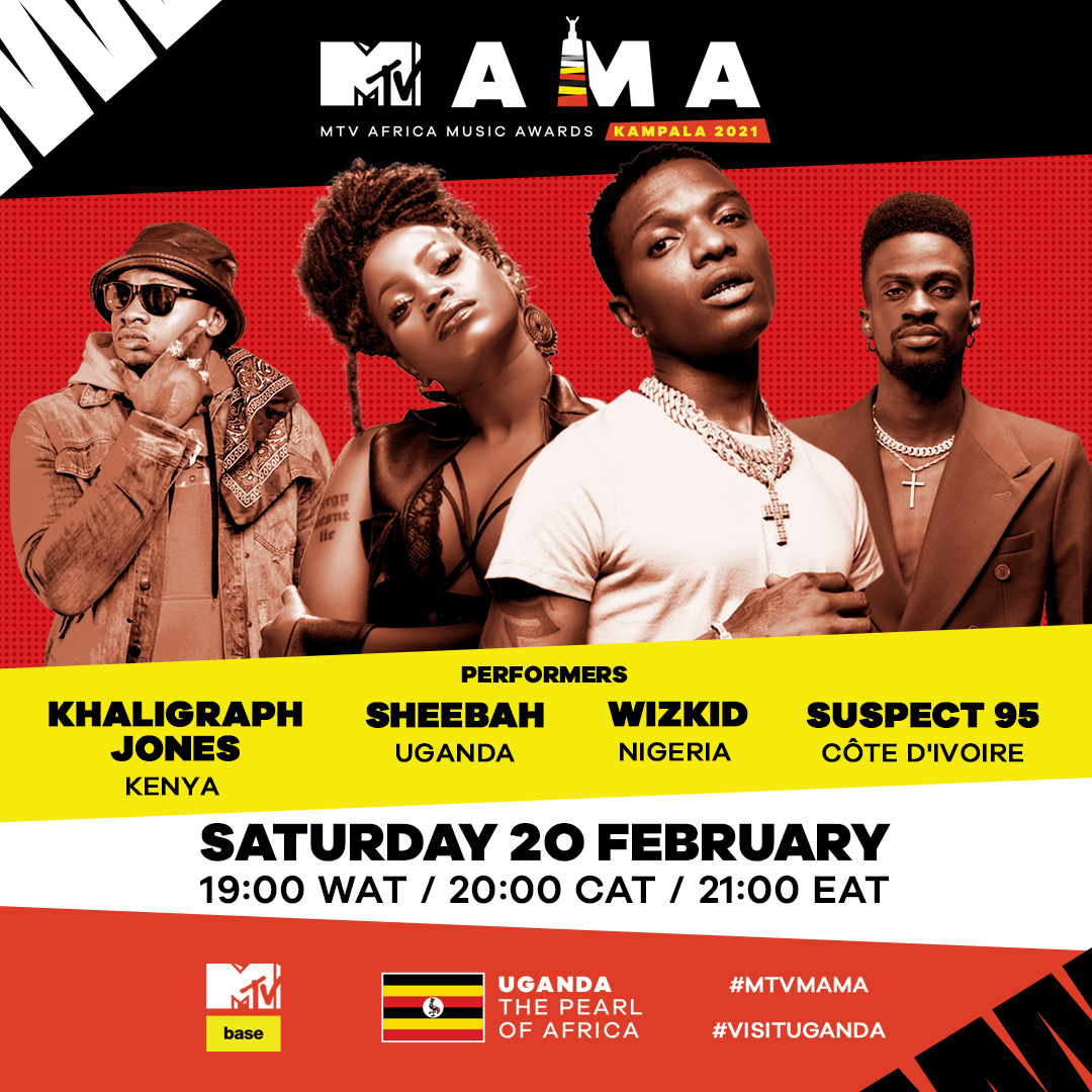 Wizkid, 7 Others announced as first performers for virtual MTV Africa Music Awards Kampala 2021 Brandspurng1