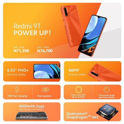 Xiaomi Launches Redmi 9T In Nigeria Market