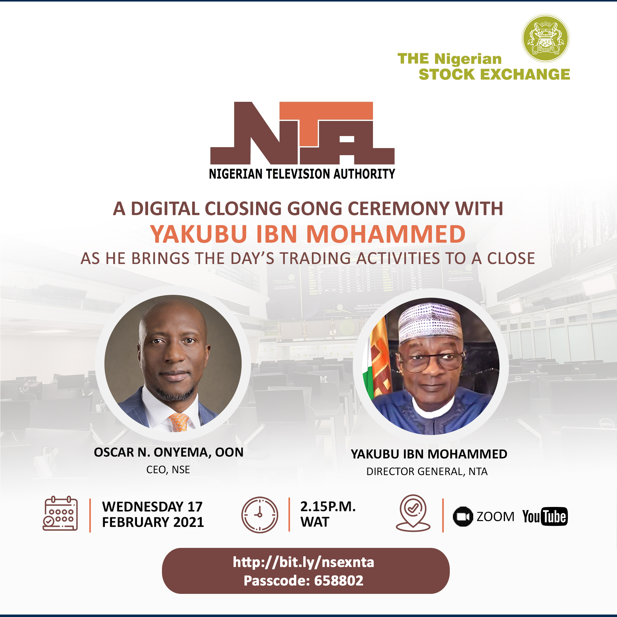 NTA to Display NSE Ticker Tape Across Its Network Brandspurng