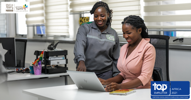 Nestlé recognized as a Top Employer in Central and West Africa Brandspurng