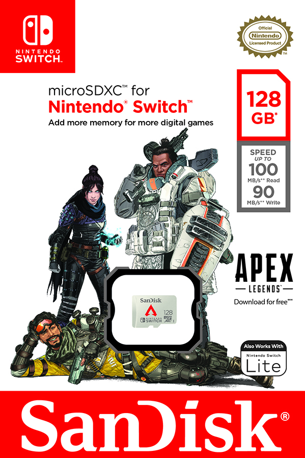Western Digital's New Apex Legends Memory Card for Nintendo Switch Enables More Players to Battle for Glory, Fame and Fortune