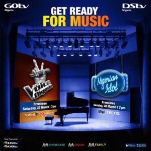 Big Music Weekend: Nigerian Idol And The Voice Nigeria To Premiere On DStv & GOtv