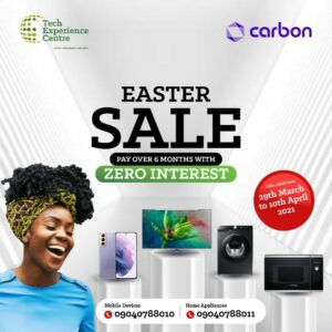 #EasterHolidays: TEC Offers Six Months' Buy Now, Pay Later Offer On Mobile Devices, Home Appliances -Brand Spur Nigeria