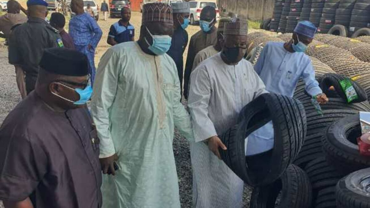 SON Confiscates Stuffed Substandard Tyres Worth About N600 Million In Ogun